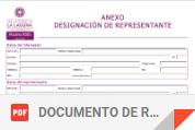 formulario de representación